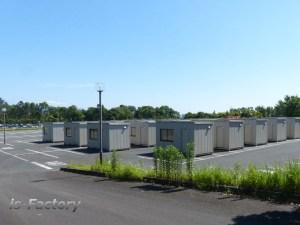 熊本地震避難所・テクノリサーチパーク・ルネサス・ユニットハウス