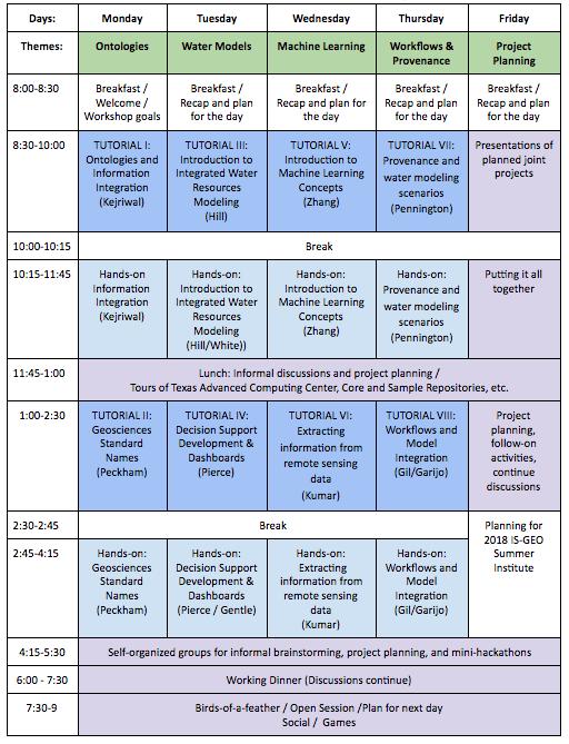 Schedule IS-GEO Institute 2017