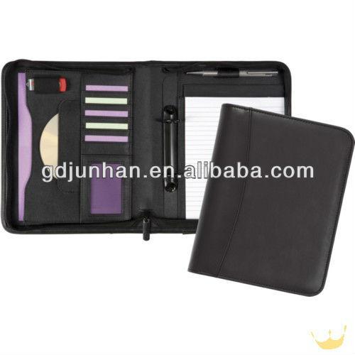 business binder leather resume custom zipper portfolio buy