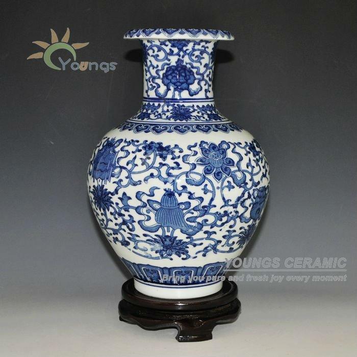 Decorative Chinese Antique Blue And White Ceramic