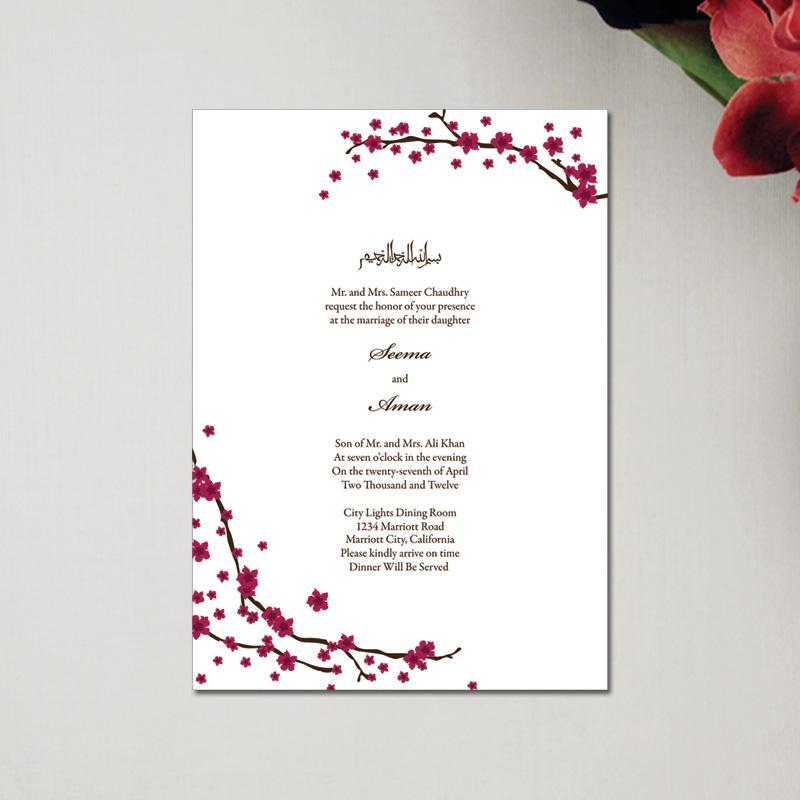 China Manufacturer Muslim Wedding Invitation Card