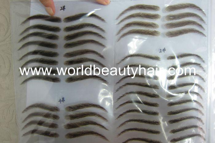 High Quality False Human Hair Eyebrow Fake Eyebrow Lace