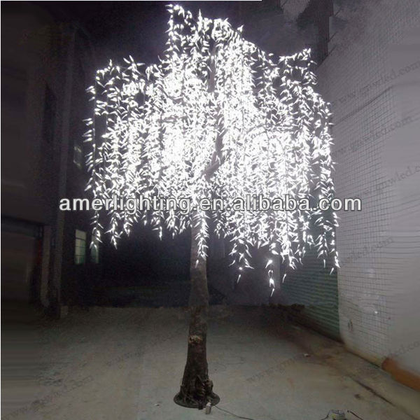 H 25m Led Treeled Simulation Willow Tree With White