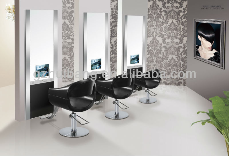 Hair Salon Mirror Station Styling Station With Tv Hb B384