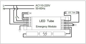 Led Emergency Exit Sign Backup Power Pack For Led Lighting