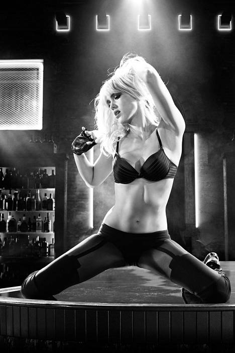 Jessica Alba filmed in Sin City: A Dame to Kill For.  She has portrayed Nancy Callahan in the Sin City films.