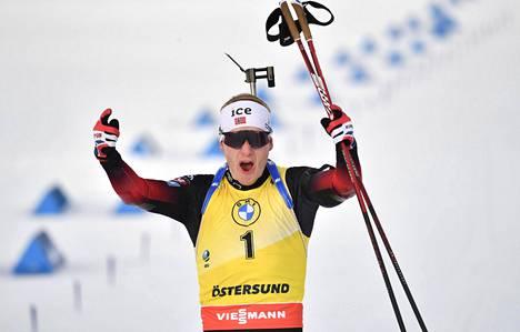 Johannes Thingnes Bö won the men's World Championships in biathlon.