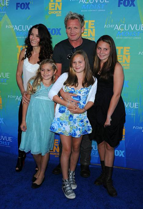 Gordon and Tana Ramsay photographed with their daughters in 2011.