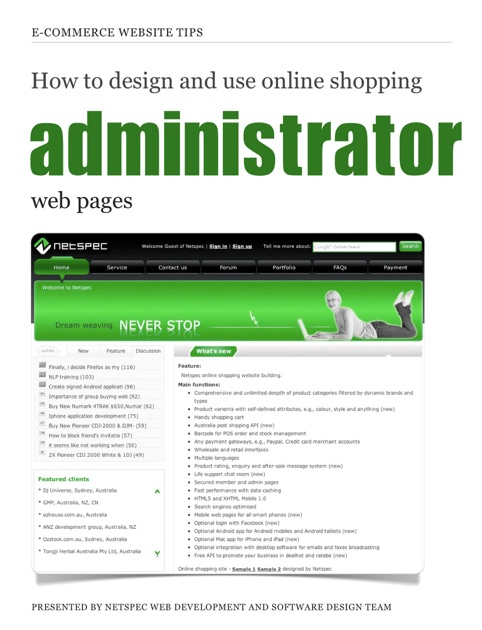 How to design and use online shopping administrator web ...