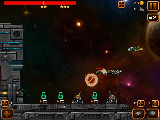 Base Under Attack! - No Ads - Retro Style Space TD Arcade Game Screenshot