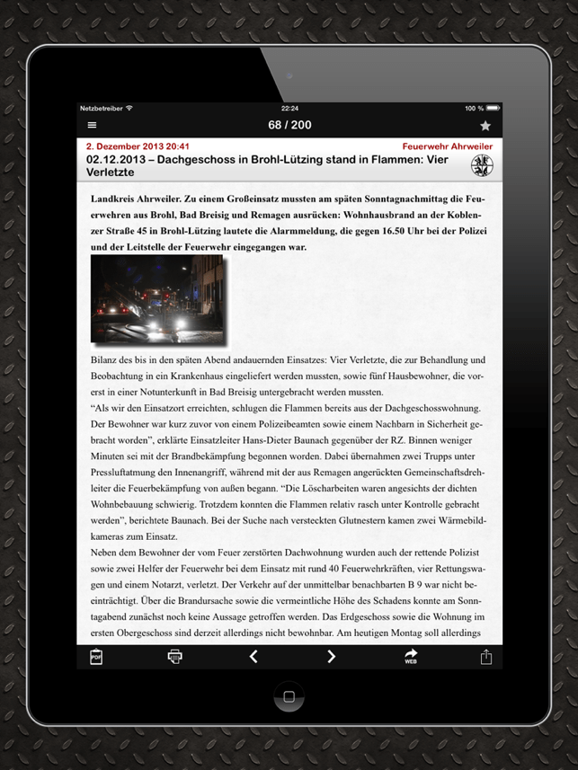 Retter–News Screenshot