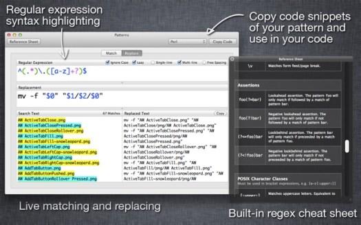 Patterns - The Regex App Screenshot