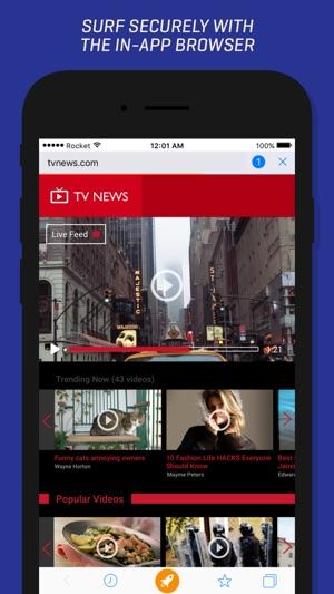 Rocket VPN – Private Browsing Screenshot