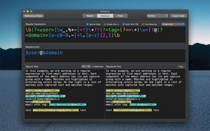 Patterns - The Regex App Screenshot 02 130gypn