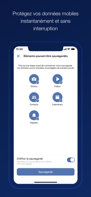 ‎Acronis Cyber Backup Capture d'écran