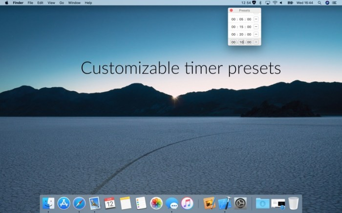Timey 3: menu bar timer Screenshot 02 f5mxejn