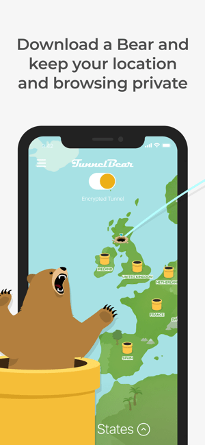 TunnelBear: Secure VPN & Wifi Screenshot