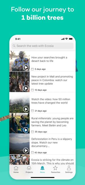 Ecosia Screenshot