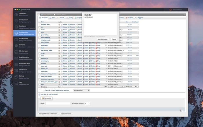 goPanel 2 - Web Server Manager Screenshot 6 9ngciln
