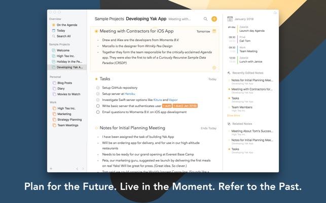 Agenda – A new take on notes Screenshot