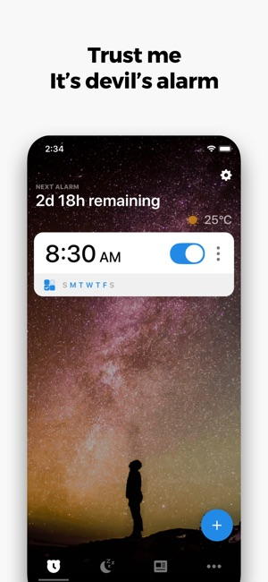 Alarmy - Alarm clock Screenshot