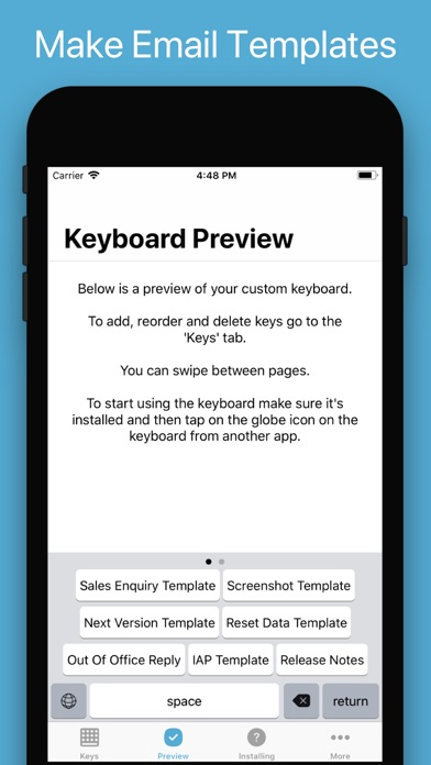 WordBoard - Snippets Keyboard Screenshot