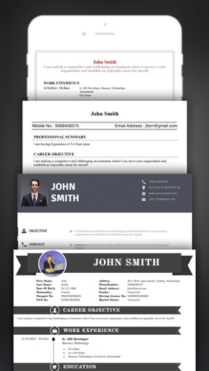 Resume Creator Pro CV Designer on the App Store  Resume Creator Pro CV Designer on the App Store