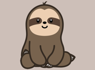 ‎Cute Sloth Stickers