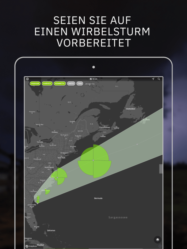 ‎Storm Radar: Wetterkarte Screenshot