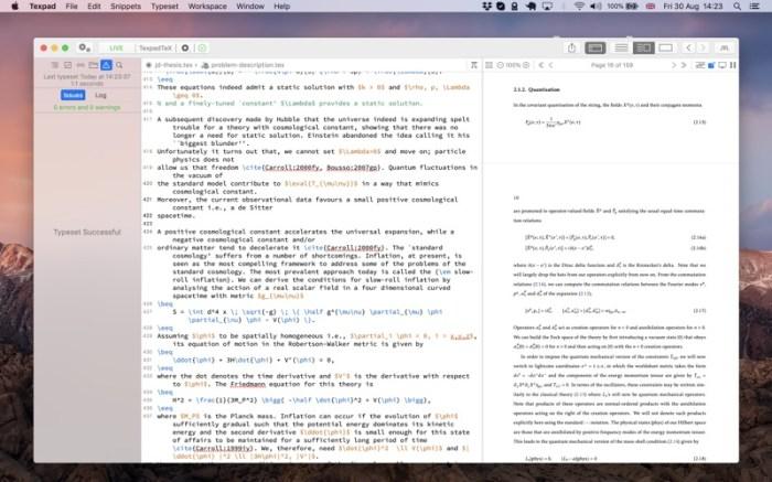 Texpad : LaTeX editor Screenshot 05 f5mxejn