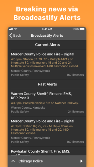 Scanner Radio: Police & Fire Screenshot