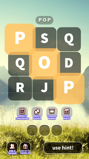 WordWhizzle Pop - word search Screenshot