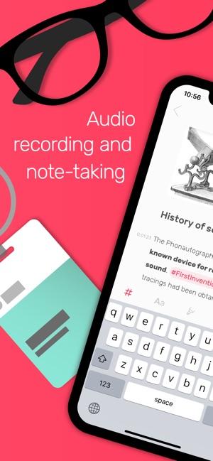 Noted: Notebook, Voice Memos Screenshot