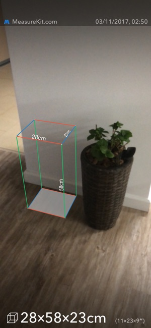 AR MeasureKit Screenshot