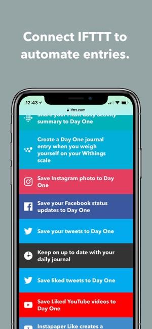 Day One Tagebuch + Notizen Screenshot