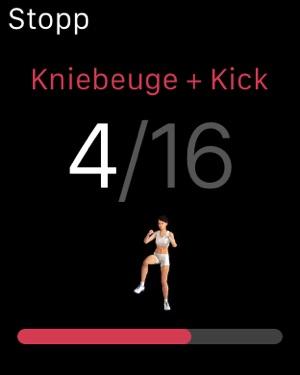 Runtastic Leg Trainer App Screenshot