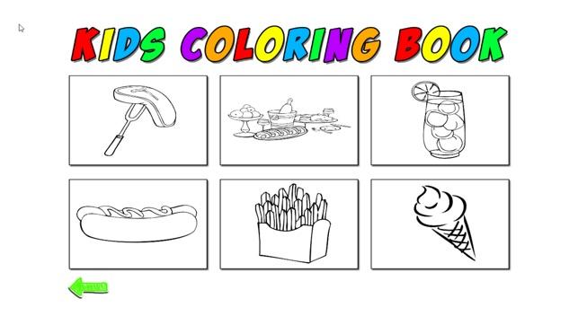 Contoh Gambar Menggambar Dan Mewarnai Makanan Kataucap