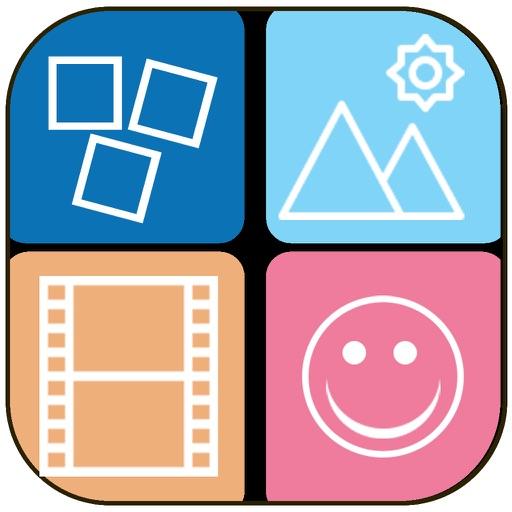正方形の写真のコラージュ メーカー - フレーム レイアウト、図形メーカー、写真コラージュ テンプレート画像の混合物 複数の写真・画像を1枚にまとめるコラージュ アプリのオススメはコレ!!2つの写真を1つにする画像結合アプリ!