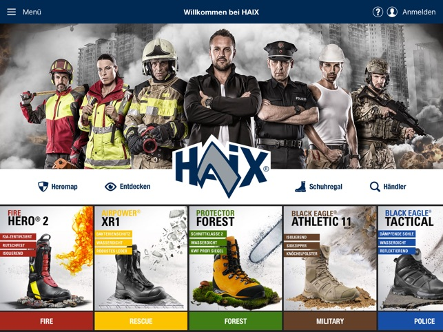 HAIX Hero-App Screenshot