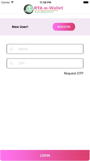 RTA m-Wallet Screenshot