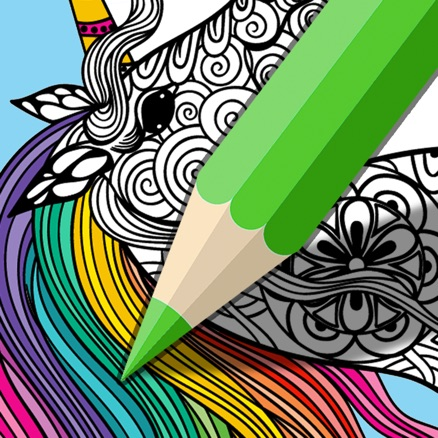 Mindfulness Art Therapy image of a partially coloured-in illustration