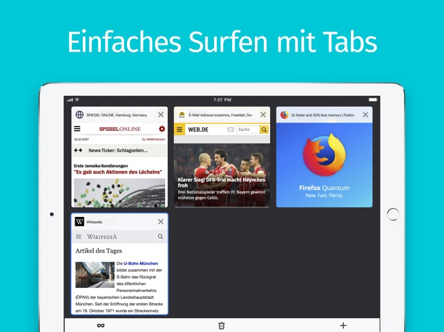 Internet-Browser Firefox Screenshot