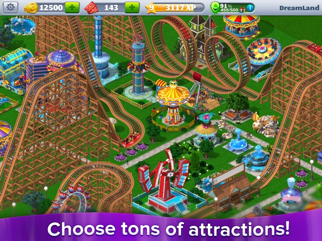 RollerCoaster Tycoon® 4Mobile™ Screenshot