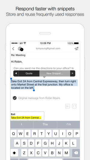 Dispatch: Email meets GTD Screenshot