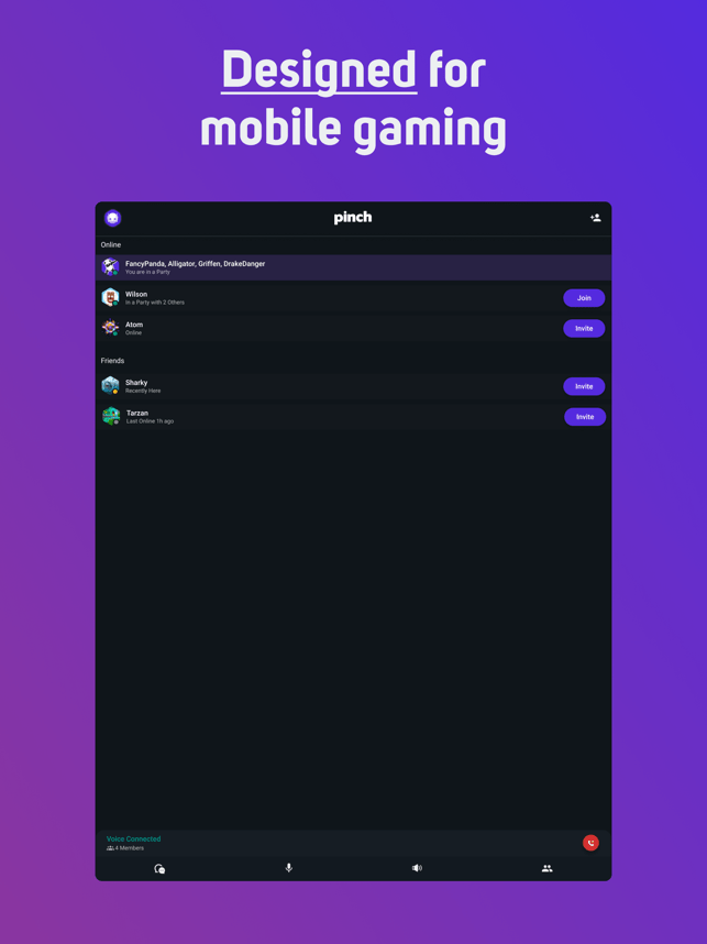 Pinch - Voice Chat for Gamers Screenshot