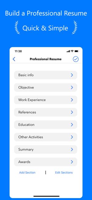 Resume Builder CV Résumé Maker Screenshot