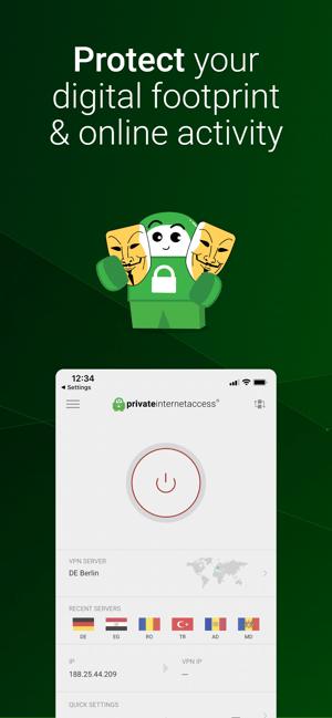 VPN by Private Internet Access Screenshot