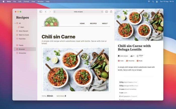 Mela – Recipe Manager Screenshot 03 9wg6z1n