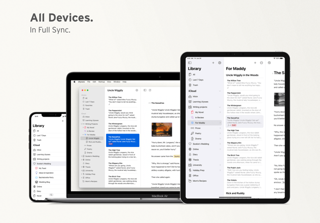 Ulysses · Writing App Screenshot