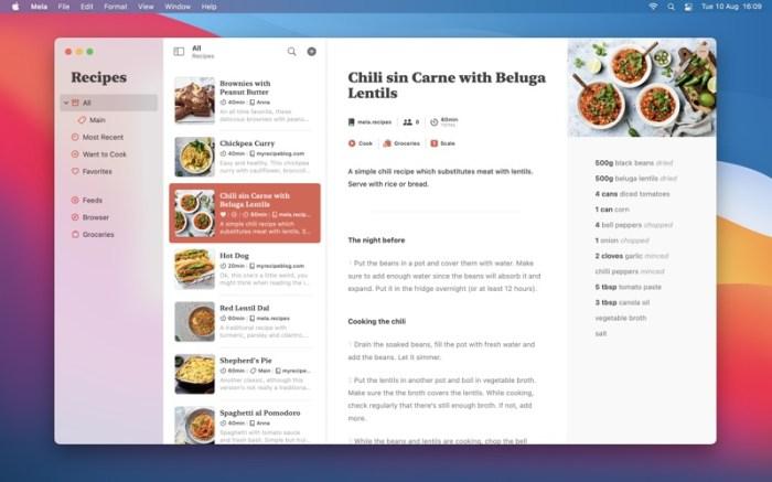 Mela – Recipe Manager Screenshot 01 9wg6z1n